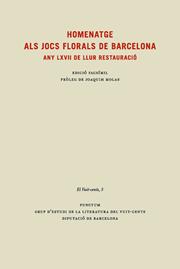 Homenatge als Jocs Florals de Barcelona. Any LXVII de llur restauració