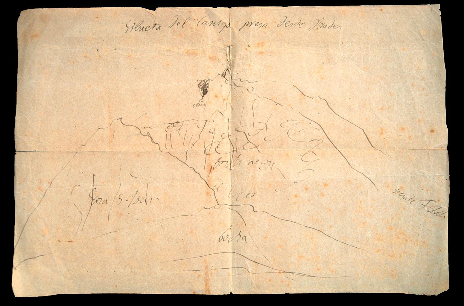 Jacint Verdaguer, Silueta del Canigó presa des de Prades, 1885