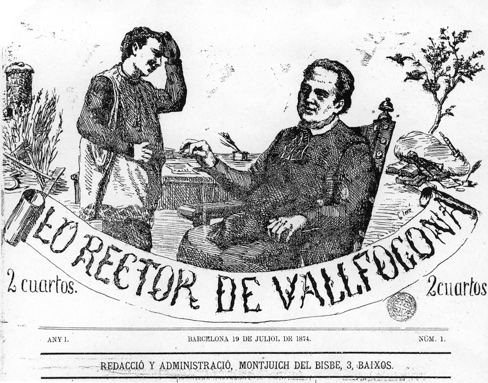 """Lo Rector de Vallfogona"" (Barcelona), any I, núm. 1 (19-VII-1874)."