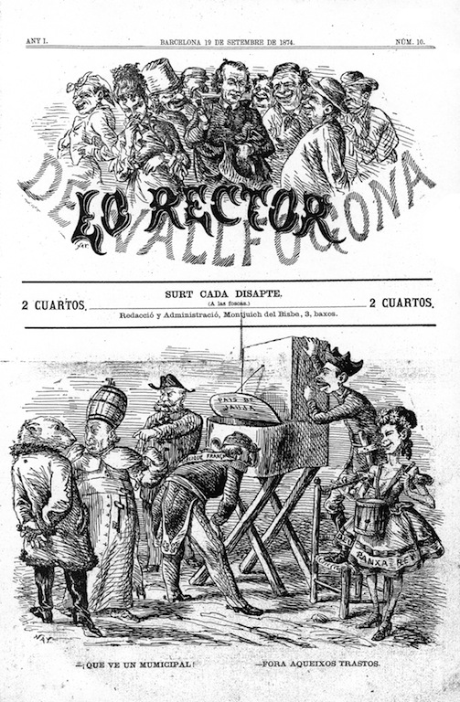 """Lo Rector de Vallfogona"" (Barcelona), any I, núm. 10 (19-IX-1874)"