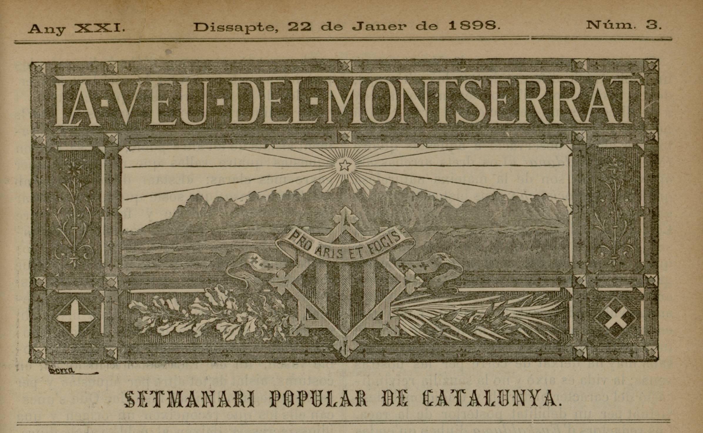 La Veu de Monserrat_1898_01_22_capçalera